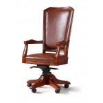 Кресло руководителя кожаное  Велде